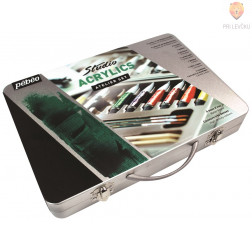 Akrilne barve STUDIO ACRYLICS Atelje set - kovinski kovček