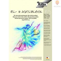 Blok za risanje z akrilnimi in oljnimi barvami 290g/m2 A3 10 listov