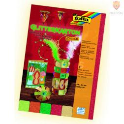 Karton z bleščicami 24x34cm barvni miks Oriental 300g/m2 5 kosov