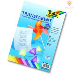 Barvni transparentni papir 10 listov v bloku