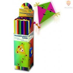 Transparentni papir za izdelavo zmajev različne barve 42g/m2 70x100cm