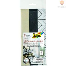 Svileni papir črni miks 50x75 cm 3 kosi