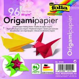 Origami papir barvni 13x13cm 80g/m2 96 listov