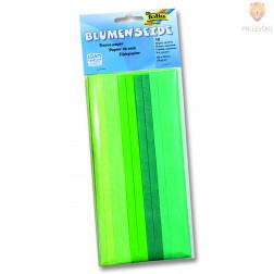 Svileni papir mix zelen 20g/m2 10 pol 50x70cm