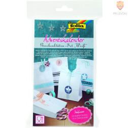 Adventni koledar darilne vrečke bele barve