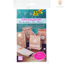 Adventni koledar darilne vrečke naravne barve