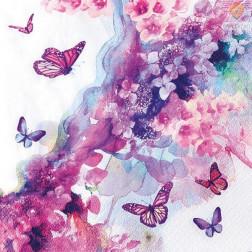 Prtički za servietno tehniko Akvarelni metulji 20 kosov
