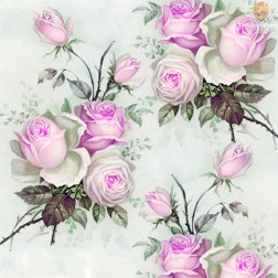 Prtički za servietno tehniko Vrtnice 2 motiv 20 kosov