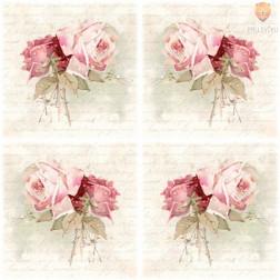 Prtički za servietno tehniko Vintage vrtnice 20 kosov