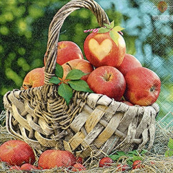 Prtički za servietno tehniko Jabolka 20 kosov