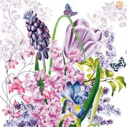 Prtički za servietno tehniko Pomladno cvetje 20 kosov