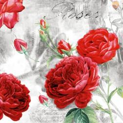 Prtički za servietno tehniko Rdeče vrtnice in Pariz 20 kosov