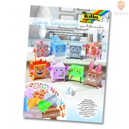 """Set za izdelavo kartonastih škatlic """"ŽIVALI"""" - 8 kos"""