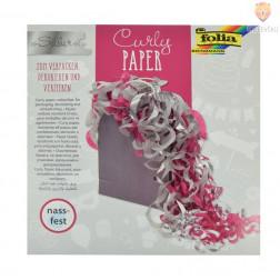 Curly dekorativni krep papir 60 slojev srebrn miks
