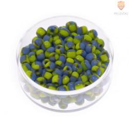 Perle dvobarvne modro-rumene 2,6mm 17g