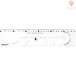 Ravnilo Noma 5 30cm z geometrijskimi liki prozorno 1 kos