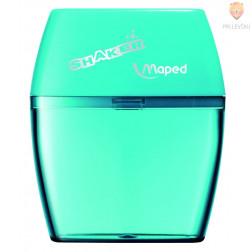 Dvojni šilček s plastičnim kontejnerjem Maped Shaker zelene barve 1 kos