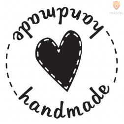 Štampiljka okrogla z ročajem Handmade 1 kos