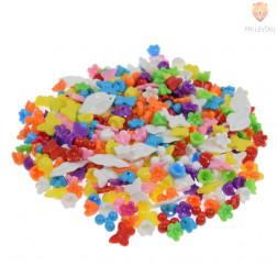 Akrilne perle miks barv in oblik v dozi 120g