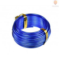 Aluminijasta žica modre barve 2mmx5m