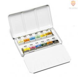Set akvarelnih barv v kovinski dozi 12 kos