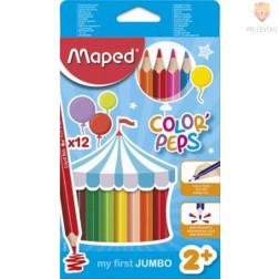 Trikotne barvice Color'Peps Maxi 12 kosov