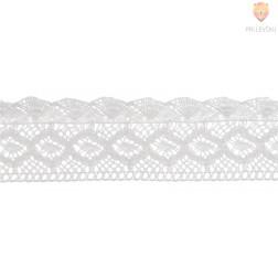 Čipka bele barve, 37 mm x 2 m