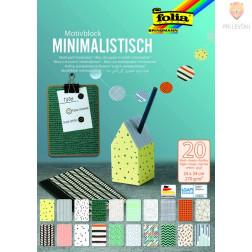 Motiv blok Minimalistic 24x34cm 270g/m2 20 listov