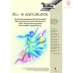 Blok za risanje z akrilnimi in oljnimi barvami 290g/m2 A4 10 listov
