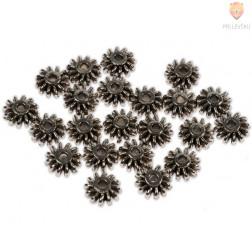 Perle kovinske - sončki, 24 kos