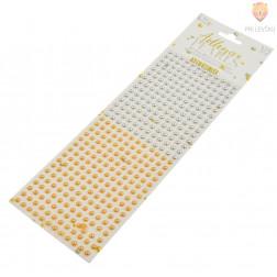 Samolepilne perle na papirju srebrne in zlate 5mm 372 kosov