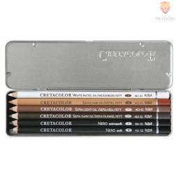 Komplet mastnih svinčnikov Oil 6 kosov v kovinski embalaži