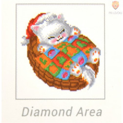 Diamond Dotz set Snug Christmas Kitty