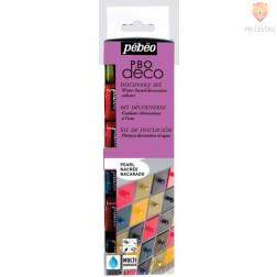 Set bisernih dekorativnih akrilnih barv P.BO DECO PEARL 6x20ml