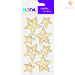 Nalepke za dekoracijo Zlate zvezdice s kamenčki
