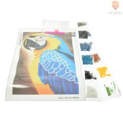 Slikanje s kristalčki Papiga 30x40cm