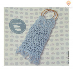 Mrežasta makrame torba - svetlo modra DIY set