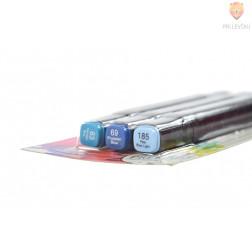 Dizajnerski markerji z dvojno konico 3 kosi modri odtenki