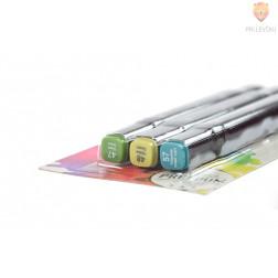 Dizajnerski markerji z dvojno konico 3 kosi zeleni odtenki