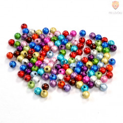 Perle s prosojno glazuro 6mm 15g