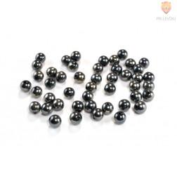 Perle plastične kovinski izgled okrogle črne barve 12mm 40g
