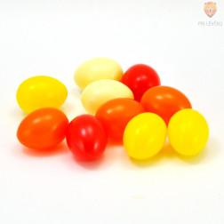 Barvna plastična jajca 4,5 cm rdeče rumeni miks