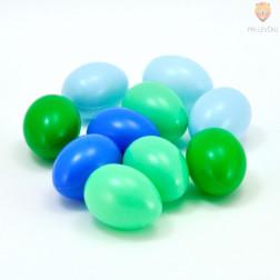 Barvna plastična jajca zeleno modri miks 4,5cm 10 kosov
