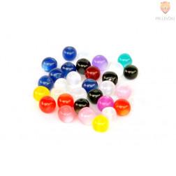 Perle akrilne mix 13 mačje oko 12mm, 30g