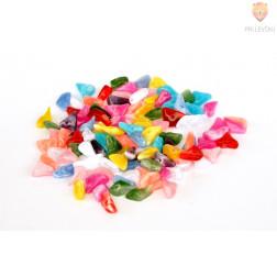 Perle akrilne mix 7, različne oblike in barve, 50g
