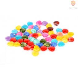 Perle akrilne mix 11, srček večji, cca 12mm, 50g