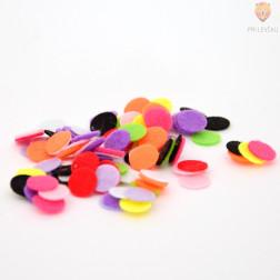 Filc krogci mix 1 cm