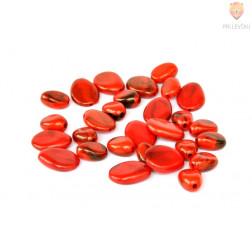 Perle akrilne mix 51, rdeči mix različnih oblik 50g