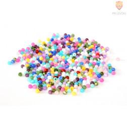 Perle akrilne mix 48 okrogle 6mm, različnih barv 50g