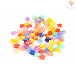 Perle akrilne mix 47 zvezdice 50g